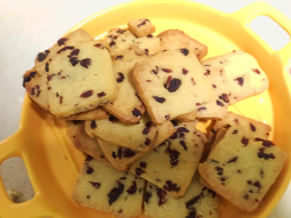 无黄油简单版蔓越莓曲奇饼干