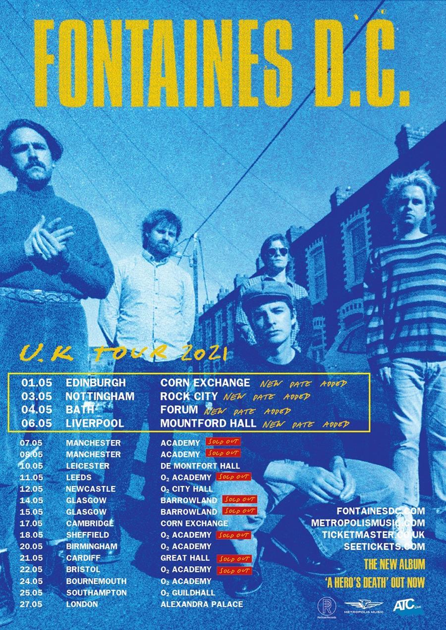 Fontaines D.C. tour poster