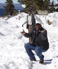 Josephat and Martin in the snow