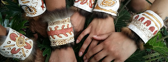 kreative kuril workshop: creating possum skin armbands