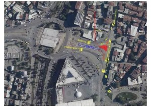 Κυκλοφοριακή ρύθμιση στην πλατεία της πόλης – Merkez Haber