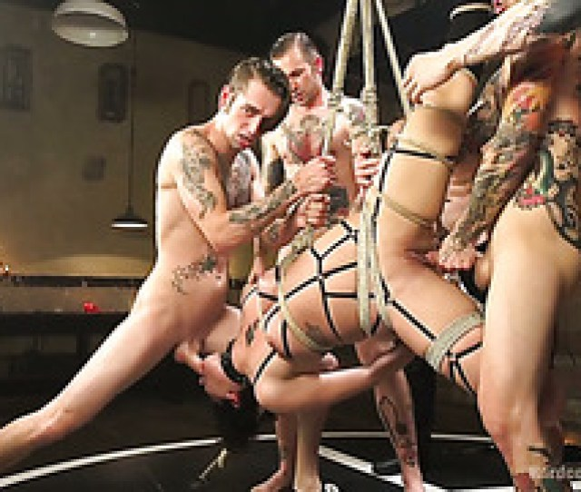 Worthless Piece Of Meat Bianca Stone Is Hate Fucked In Gangbang