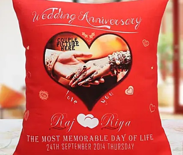 Personalized Anniversary Cushion Gifts For Anniversary