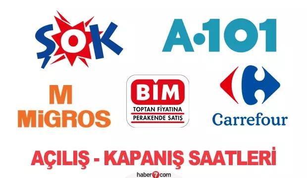 Migros, BİM, ŞOK, A101, Carrefour saat kaçta açılıp kaçta kapanıyor? 1