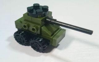 我的积木乐园之小坦克拼装