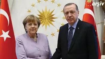 Son dakika... Cumhurbaşkanı Erdoğan Merkel ile görüştü