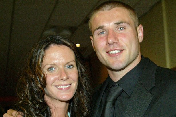 Ben Cohen with his former wife Abby at his testimonial dinner.