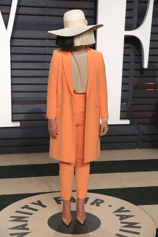 Sia at the Vanity Fair Oscar Party 2017