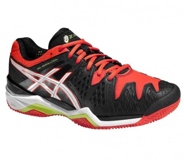 Asics - Gel-Resolution 6 Clay Chaussures de tennis pour hommes (noir/rouge) - EU 47 - US 12,5