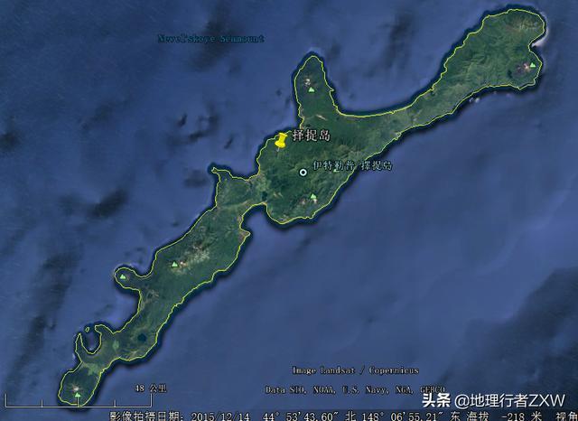 衛星影像下俯瞰日俄爭議島嶼北方四島(俄稱南千島群島) - 每日頭條
