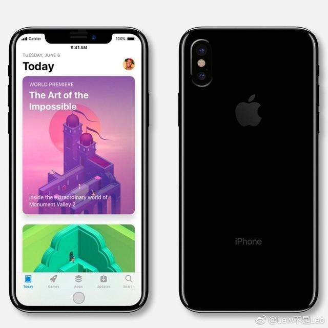 疑似蘋果iPhone 8螢幕截圖!額頭邊角不顯示iOS 11 - 每日頭條