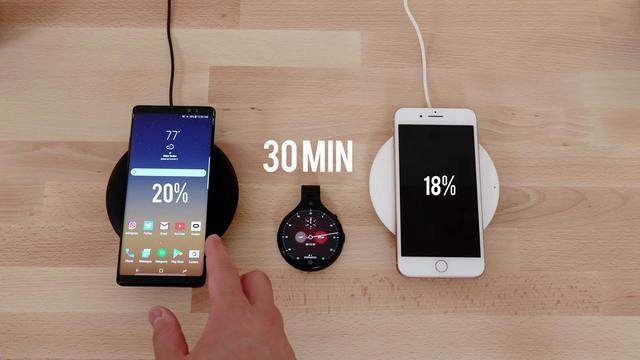 實測三星Note8無線充電速度虐哭iPhone8! - 每日頭條