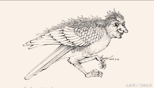 山海經神話故事系列:帝堯之子,果然如鷹所說。可是公冶長把肉吃掉後,人首鳥身神「鴸」(第54期) - 每日頭條