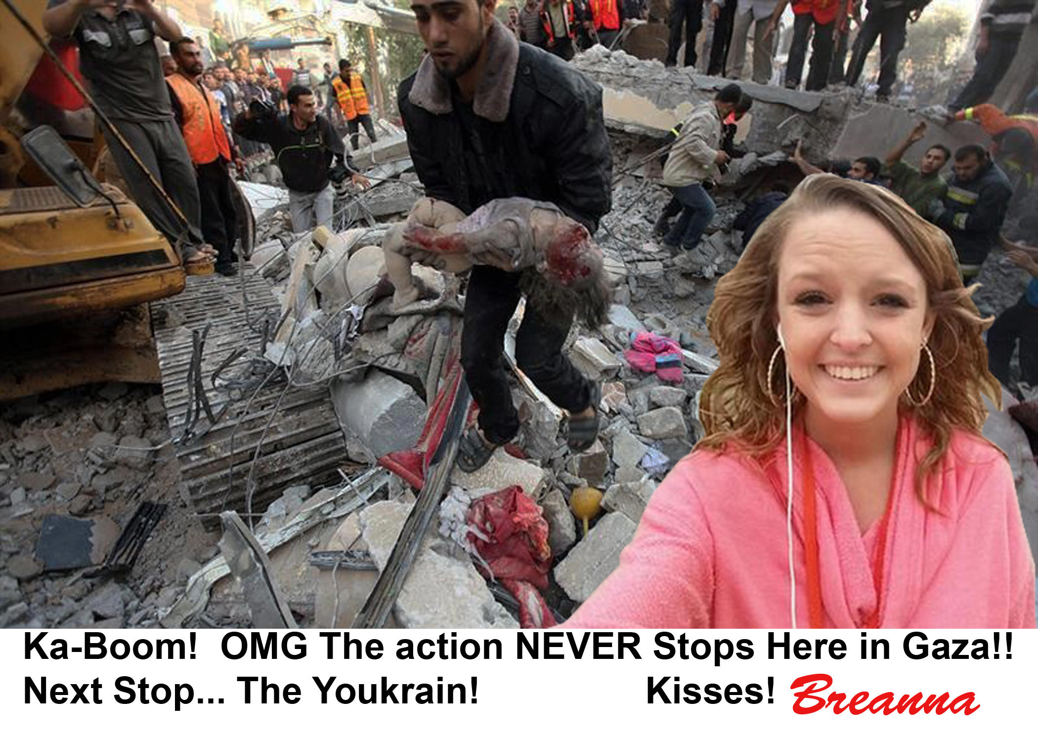 Having A Hot Time In Gaza Love Breanna Auschwitz Selfie Know Your Meme