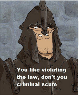 You Like Breaking The Law Dont You Criminal Scum You