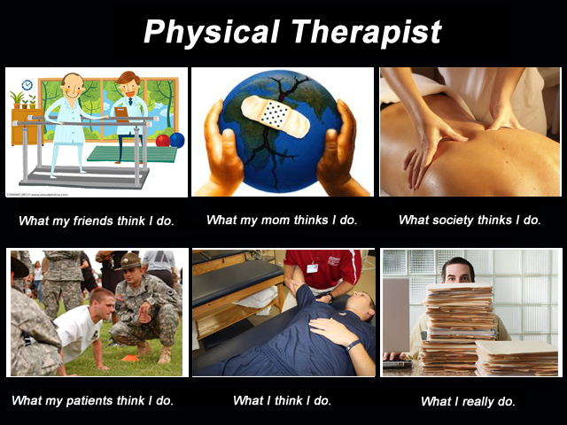 Image result for physical therapy meme what my friends think i do what i actually do