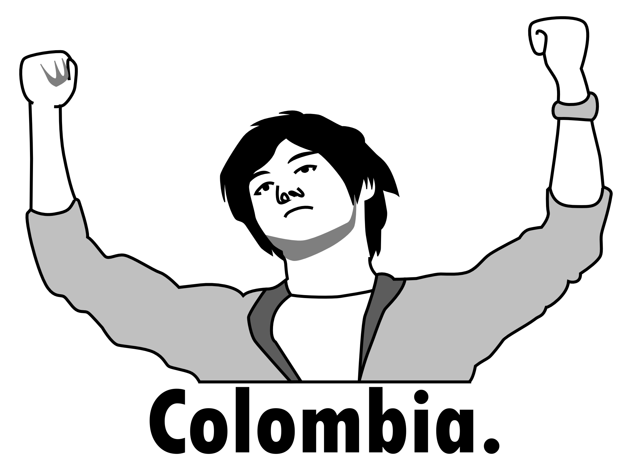 Colombia Rage Face