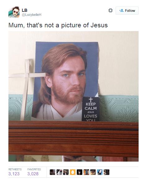 Ewan McGregor as Obi-Wan Kenobi...aka Jedi Jesus