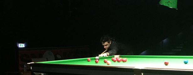 Ronnie O'Sullivan during his appearance in Lincoln earlier this year