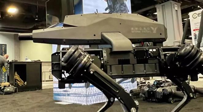 Tam otomatik tüfek robot köpeklere monte edildi Gündem oldu