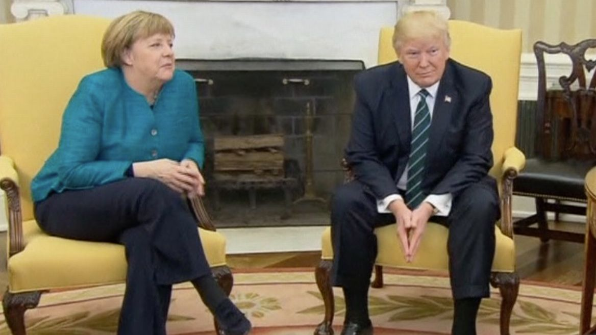 Image result for photos of merkel and trump in the white house
