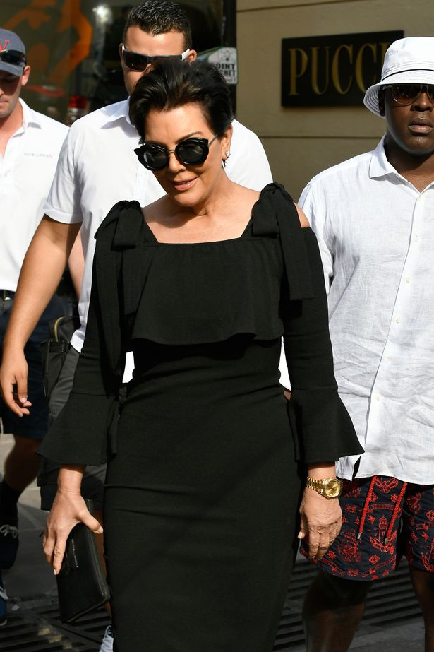 Kris with boyfriend Corey Gamble spotted earlier this month in France (Image: Splash News)