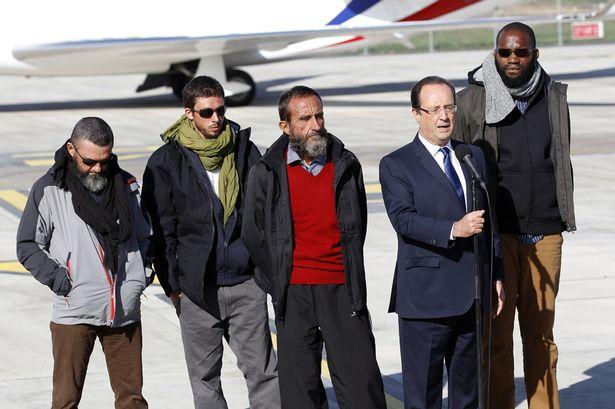 Returned: French Hostages with Francois Hollande