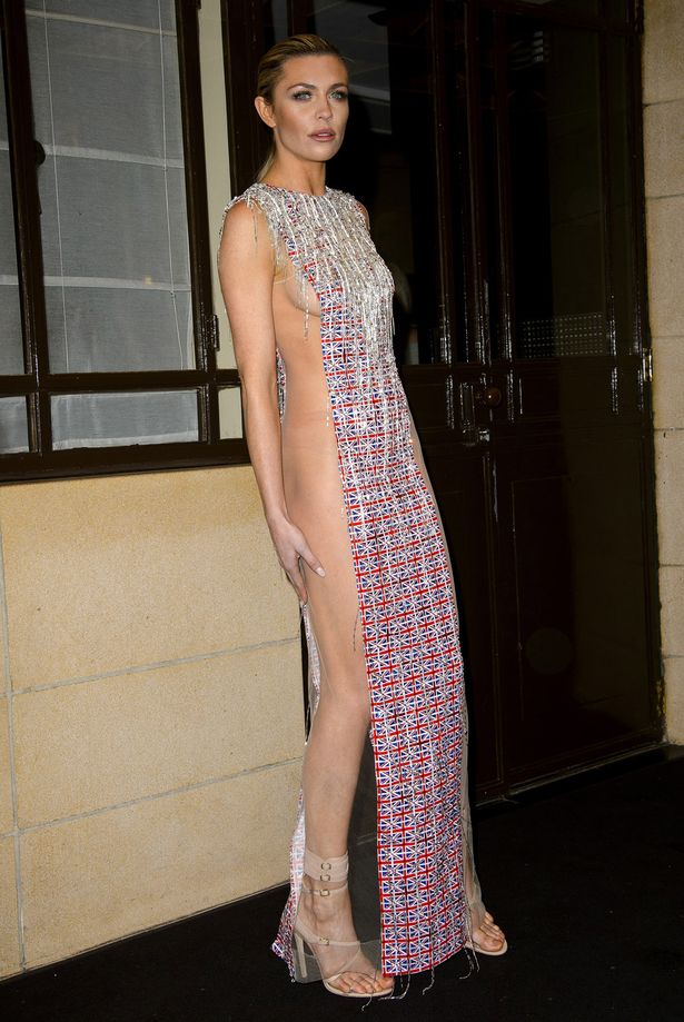 Abbey Clancy attends Fashion for the Brave in support of the British Forces at war at The Dorchester