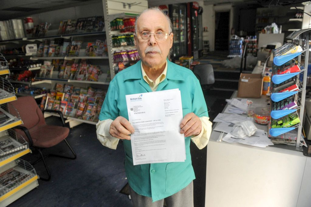 Anthony Waters' father, Keith Waters - holding a British Gas Bill | ozara gossip