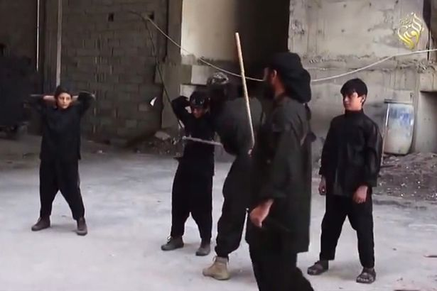 ISIS terrorists in ruthless training camps