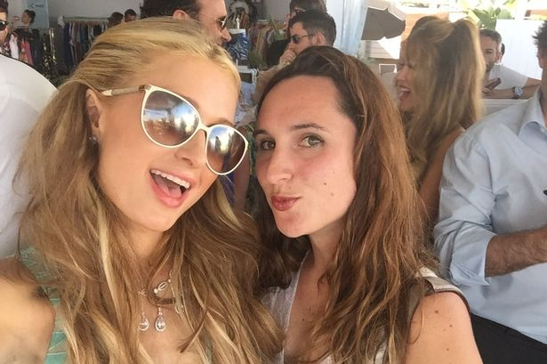 Paris Hilton and Halina Watts in Cannes