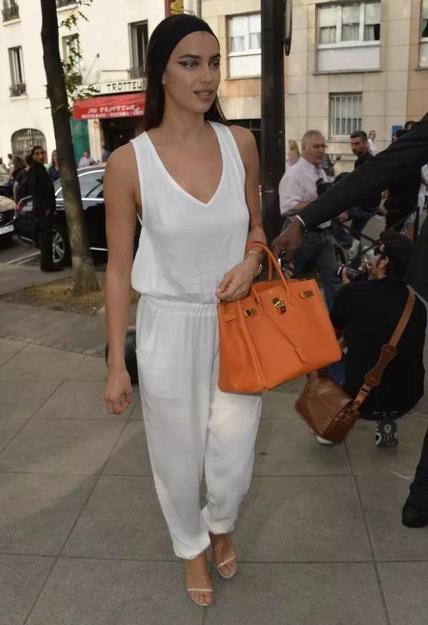Irina Shayk attends the Givenchy Menswear Spring/Summer 2016 show