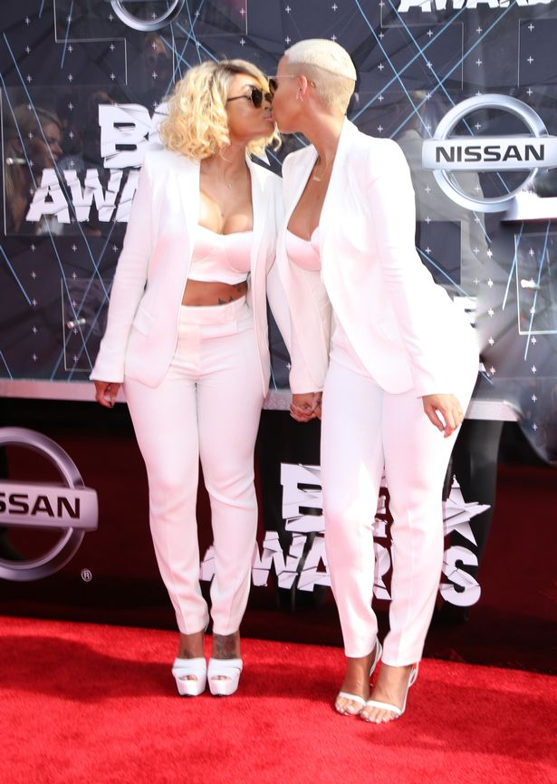 Models Amber Rose and Blac Chyna