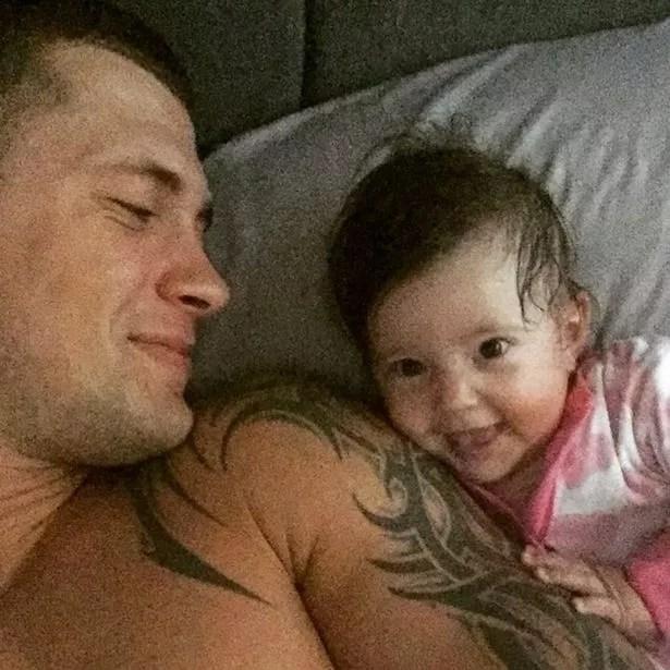 Dan Osborne and baby Ella