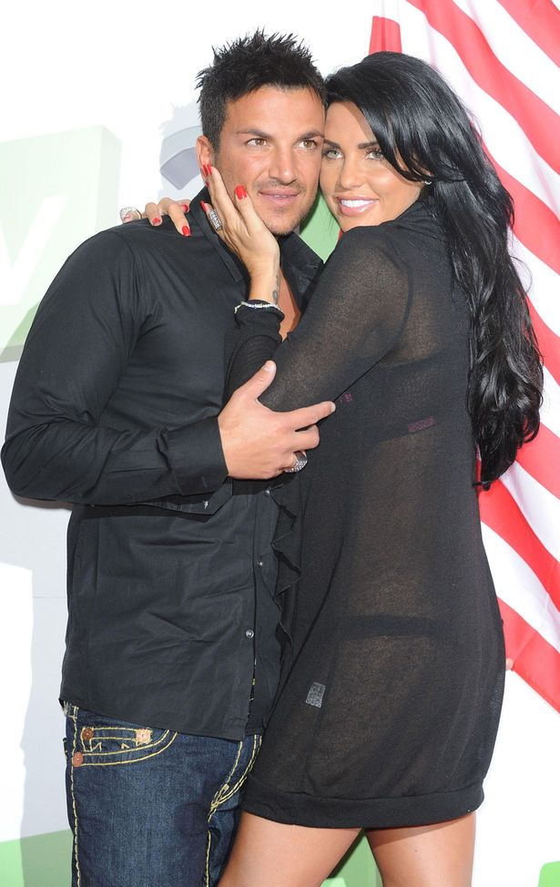 Katie Price and Peter Andre at the Soho Hotel in central London, promoting their new show