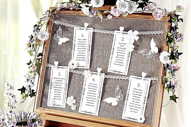 Thrifty Ideas: How To Make A Vintage Wedding Seating Chart