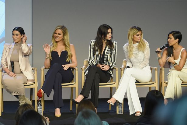 The Kardashian and Jenner sisters at the Apple store to launch their new app in NYC