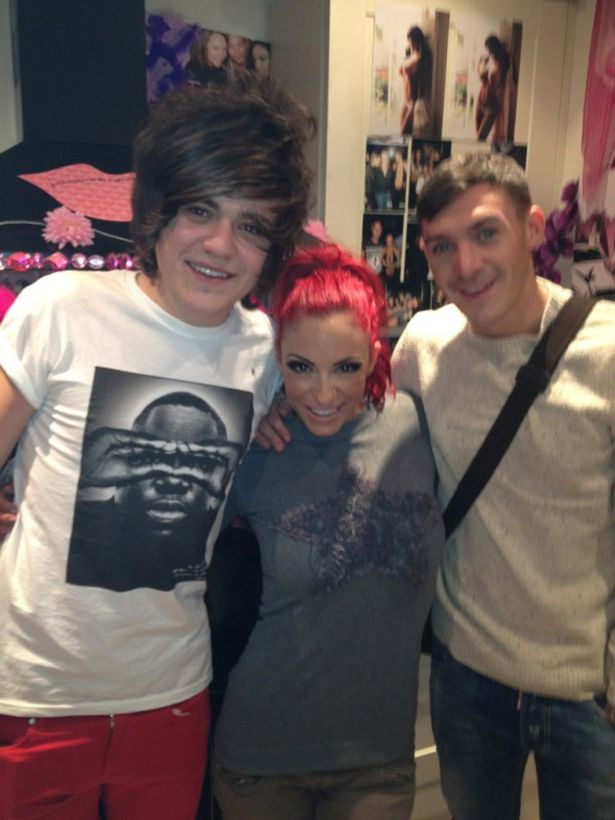 Frankie Cocozza And Kirk Norcross Visit Jodie Marsh Before