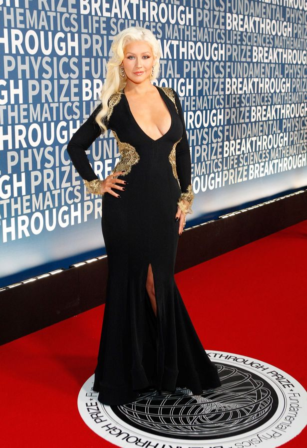 Christina Aguilera attends the Breakthrough Prize Awards