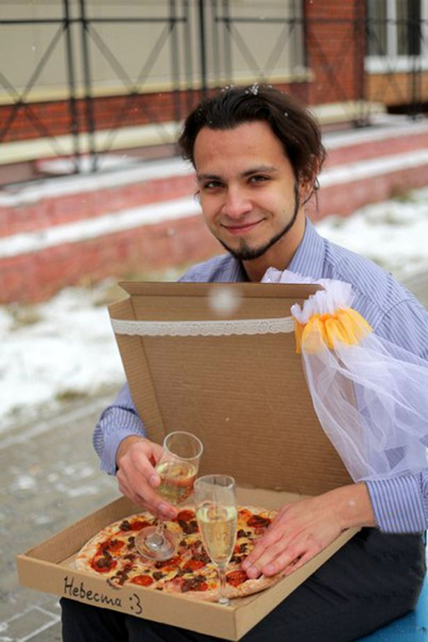 A lonely Russian gourmet fed up of not having a better half has married a pizza. The man who was not named said he came up with the idea because he was fed up of being alone