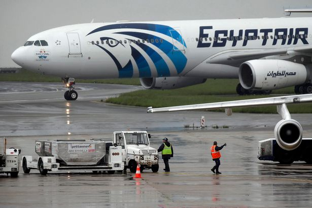 The EgyptAir plane