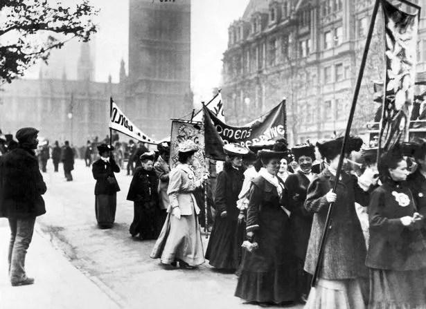 Suffragette demonstration in London, 21st March 1906
