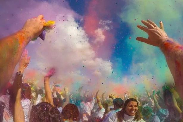 Holi festival in Catalonia, Europe