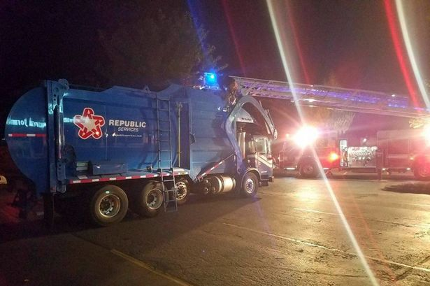 A 23-year-old Oregon man survived being compacted by a recycling truck after sleeping in a dumpster