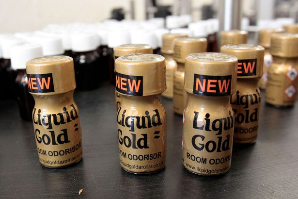 Liquid Gold branded poppers