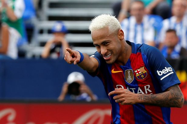 Image result for Neymar criticised for provoking Valencia supporters