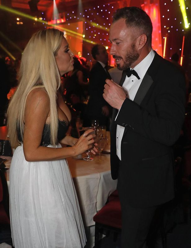 Nicola McLean and James Jordan attend 'An Evening With The Stars' charity gala in aid of Save The Children at The Grosvenor House Hotel on October 25, 2016 in London