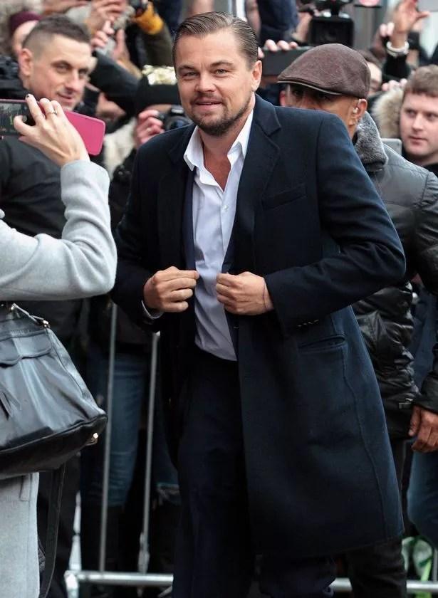 Leonardo DiCaprio arrives at Home Restaurant in Edinburgh