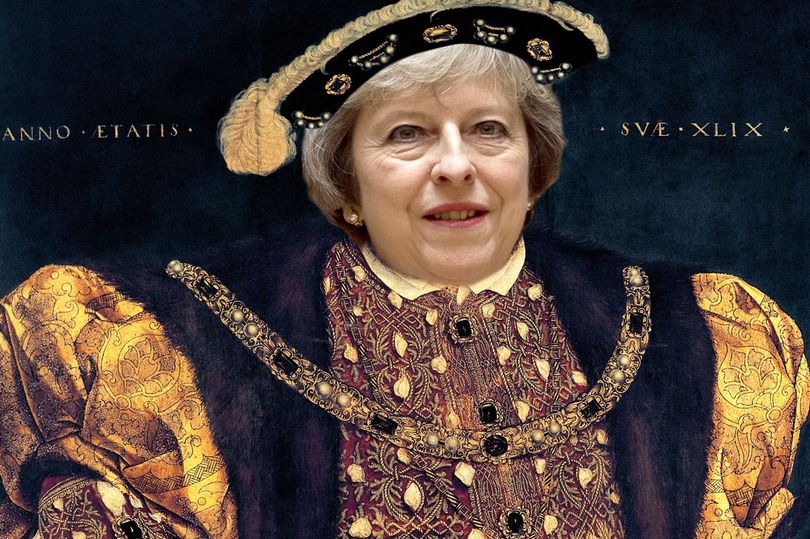 Theresa May as Henry VIII