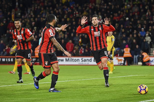 Image result for bournemouth 3-3 arsenal